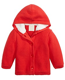 Baby Boys & Girls Hooded Sweater With Faux-Sherpa Lining, Created For Macy's