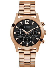 Unisex Rose Gold-Tone Stainless Steel Bracelet Watch 42mm
