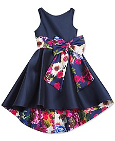 Little Girl Mikado Hi Low Dress