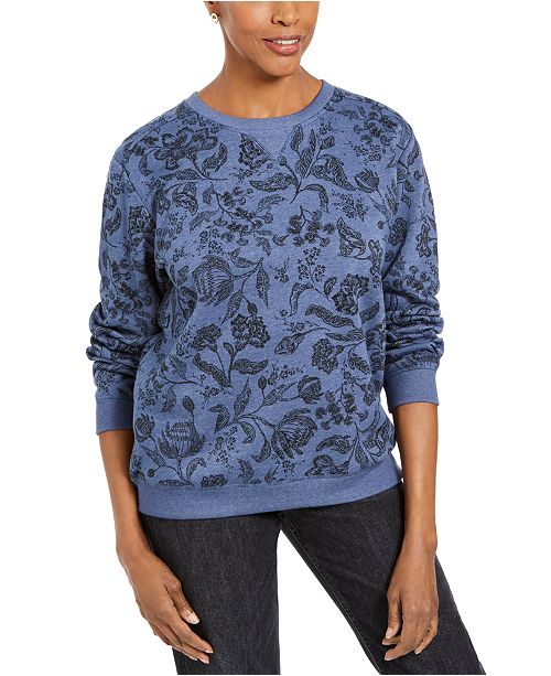 Karen Scott Sport Twilight Printed Sweatshirt, Created for Macy's
