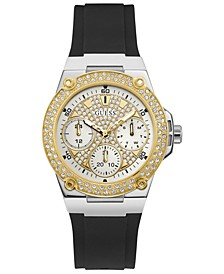 Women's Black Silicone Strap Watch 39mm