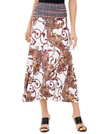 I.N.C. Printed Convertible Maxi Skirt, Created for Macy's