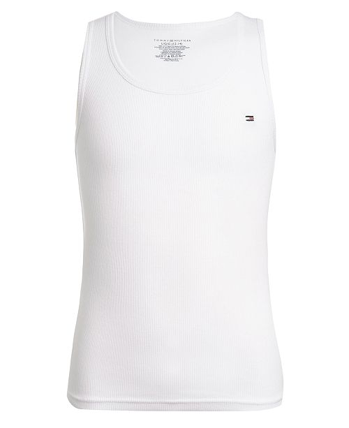 Tommy Hilfiger Little & Big Boys Cotton Ribbed Tank Undershirt