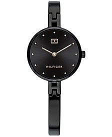 Women's Black Stainless Steel Bangle Bracelet Watch 26mm, Created for Macy's
