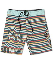 Big Boys Aura Stretch Stripe Board Shorts