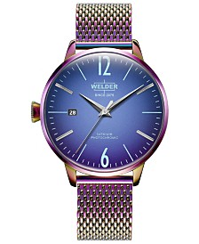 WELDER Women's Neon Stainless Steel Mesh Bracelet Watch 38mm