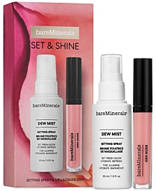 2-Pc. Set & Shine Setting Spray & Lip Lacquer Set