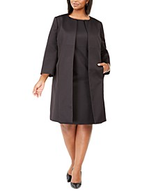 Plus Size Textured Dress Suit