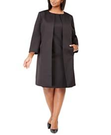 Le Suit Plus Size Textured Dress Suit