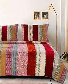 Marley Cranberry Quilt Set, 2-Piece Twin