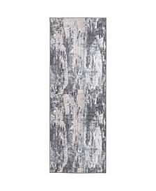 "Global Rug Design Cresent CRE03 Gray 2'6"" x 7'2"" Runner Area Rug"