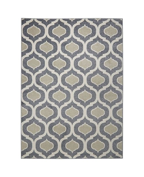 """Global Rug Designs CLOSEOUT! Global Rug Design Cresent CRE01 Gray 7'10"""" x 10'2"""" Area Rug"""