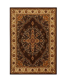 "Primacy PRI08 Brown 7'8"" x 10'4"" Area Rug"