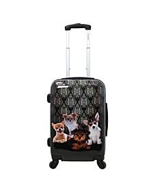 "Doggies 20"" Hardside Luggage Carry-On"
