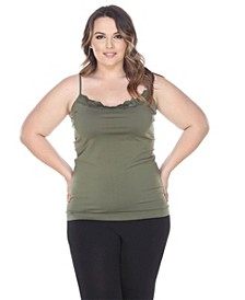 Plus Size Lace Trim Tank Top