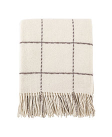 Saro Lifestyle Windowpane Throw