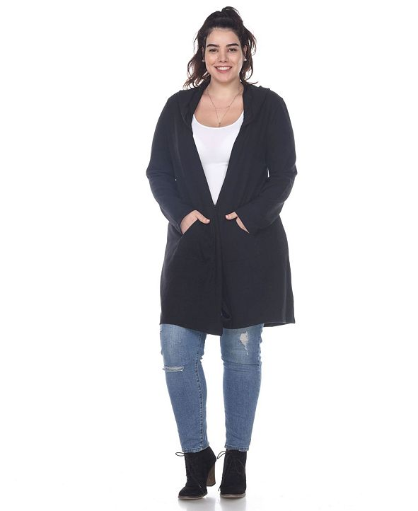 White Mark Plus Size Women's North Cardigan