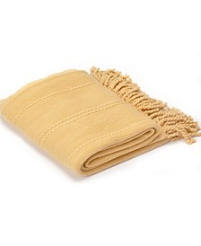 """Home Cable Knit Woven Luxury Tasseled Ends Throw50"""" X 60"""""""