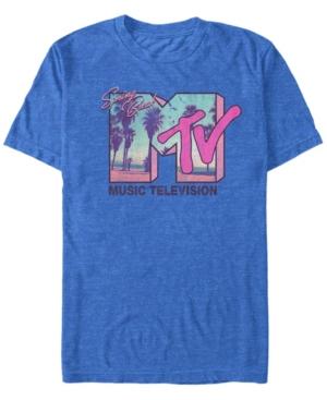 80s Men's Clothing | Shirts, Jeans, Jackets for Guys Mtv Mens Spring Break Sunset Logo Short Sleeve T-Shirt $24.99 AT vintagedancer.com