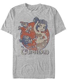 Cuphead Men's Cala Maria Airplane Attack Short Sleeve T-Shirt