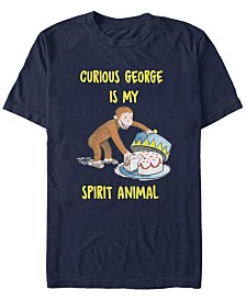 Curious George Men's George Cake Time Short Sleeve T-Shirt