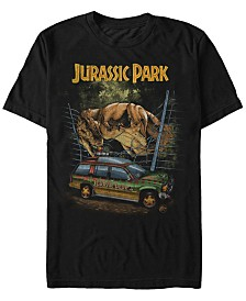 Jurassic Park Men's T-Rex Break Out Short Sleeve T-Shirt