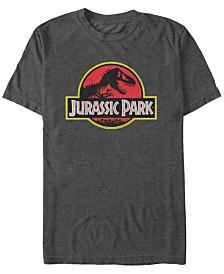 Jurassic Park Men's Classic Distressed Logo Short Sleeve T-Shirt