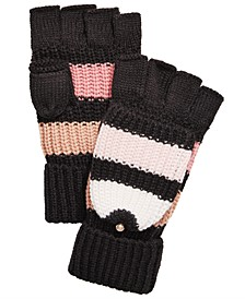 Wide Stripe Pop Top Mittens