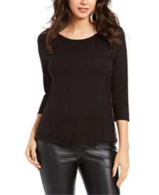 Thalia Sodi Patch-Pocket 3/4-Sleeve Top, Created for Macy's