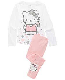 Little Girls 2-Pc. Hello Kitty T-Shirt & Leggings Set