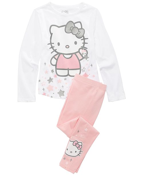 Hello Kitty Toddler Girls 2-Pc. T-Shirt & Leggings Set