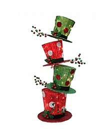 International 44 in. high Premium Christmas Stacking Hat with 50 UL incandescent clear lights
