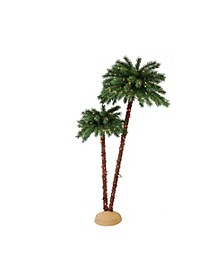 International Premium 3.5 ft./6 ft. Pre-Lit Artificial Palm Tree with 175 UL-Listed Lights