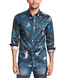 Men's Luxe Melting Floral Pattern Shirt