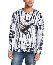 Men's Eagle Splatter Print Long Sleeve T-Shirt