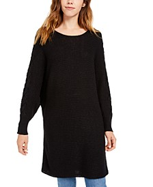 Juniors' Lace-Up Tunic Sweater, Created for Macy's