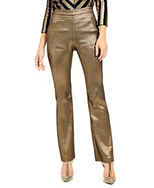 INC Metallic Bootcut Pants, Created For Macy's