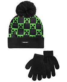 Big Boys 2-Pc. Minecraft Hat & Gloves Set