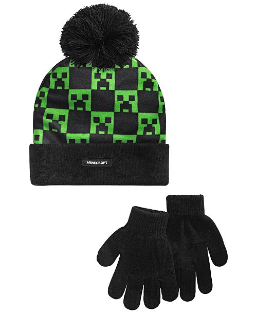 Bioworld Big Boys 2-Pc. Minecraft Hat & Gloves Set