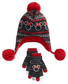 Berkshire Big Girls 2-Pc. Minnie Mouse Heidi Hat & Layered Gloves Set