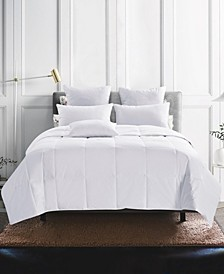 600 Fill Power Lightweight 75% White Down Comforter, Size- Full/Queen