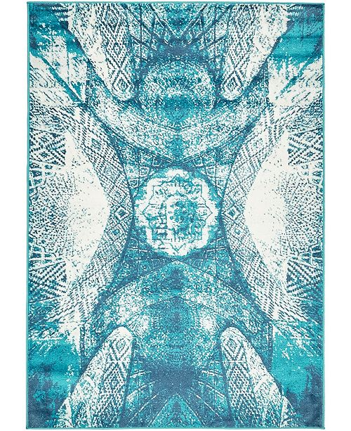 Bridgeport Home Basha Bas3 Turquoise Area Rug Collection