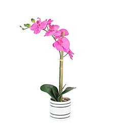 Potted Artificial Orchid Flower Plant