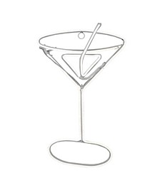 Neon Style LED Lighted Martini Glass Window Silhouette Decoration