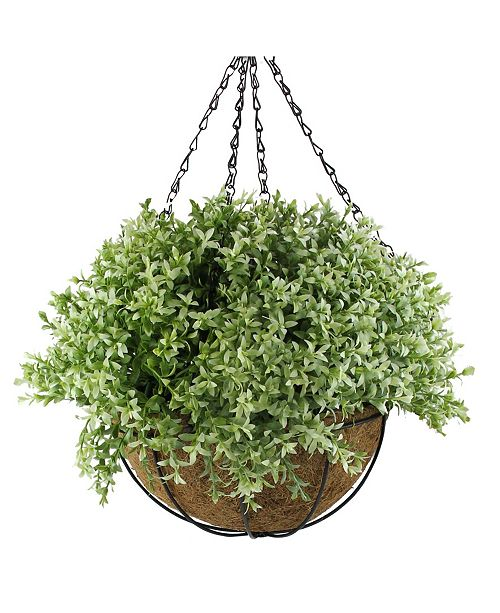 Northlight Artificial Two-Tone Foliage Hanging Basket