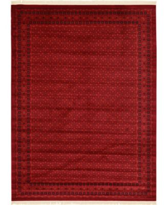 Vivaan Viv1 Red 5' x 8' Area Rug