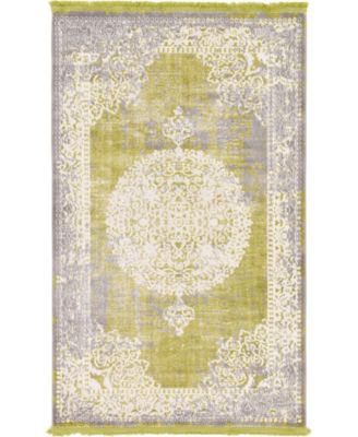 Norston Nor4 Light Green 7' x 10' Area Rug