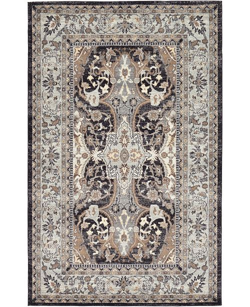 Bridgeport Home Wisdom Wis2 Charcoal Area Rug Collection