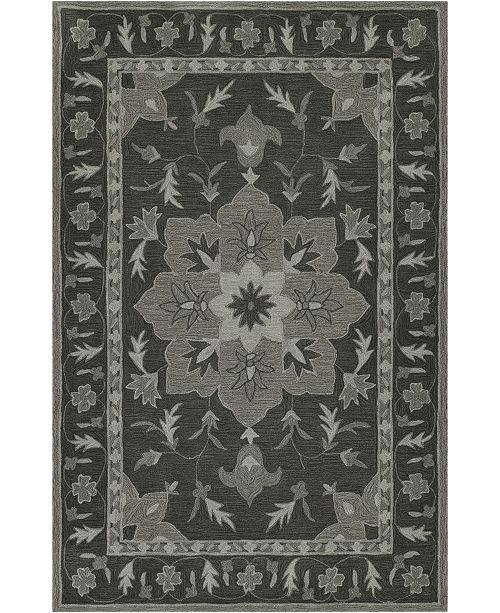 D Style Torrey Tor4 Charcoal Area Rugs