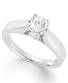 Diamond Engagement Ring in 14k White Gold (3/4 ct. t.w.)